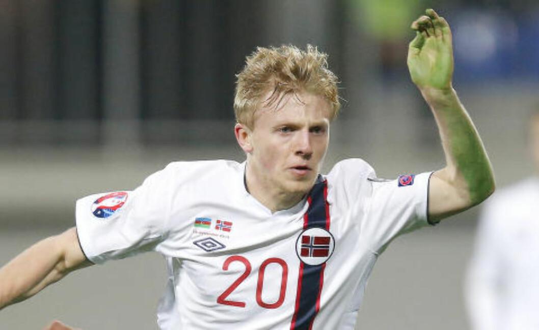 <strong>HULKEN:</strong>  Mats Møller Dæhli var nedi med hånda mot Aserbajdsjan - det kunne han ikke snakke seg bort fra. Foto: Cornelius Poppe / NTB Scanpix