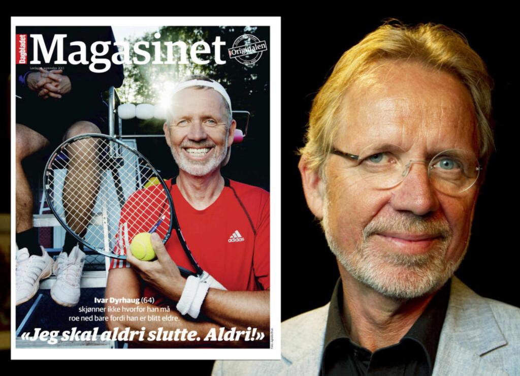 SAMMENLIKNET SEG MED LETTERMAN: Men nå har både Ivar Dyrhaug og den amerikanske talkshowkongen abdisert - selv om Dyrhaug for under to år siden proklamerte at han aldri skulle slutte. Foto: Dagbladet/NTB Scanpix