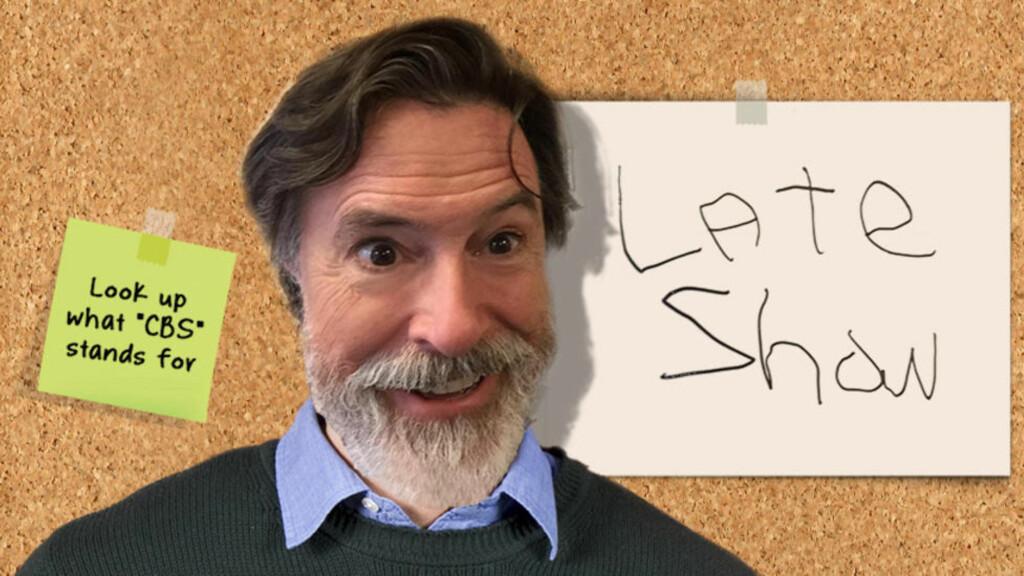 OVERTAR ETTER LETTERMAN: Fra september går Stephen Colbert på lufta med «The Late Show». I mellomtida bygger han merkevare i sosiale medier. Foto: Skjermbilde fra colbertlateshow.com