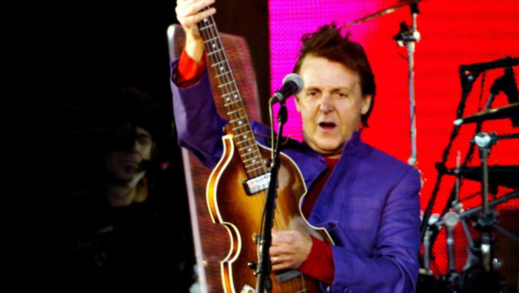 KOMMER TIL NORGE: Sir Paul McCartney, her fra en konsert på Valle Hovin i 2004. Foto EIK/ROBERT S. Dagbladet