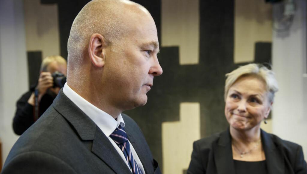 SORRY, THOR-GJERMUND: Widvey sa at «NRK ikke kan forvente full kostnadskompensasjon i åra som kommer». NRK-sjef Thor Gjermund Eriksen tolker det som at flere kutt er på vei. Foto: NTB Scanpix
