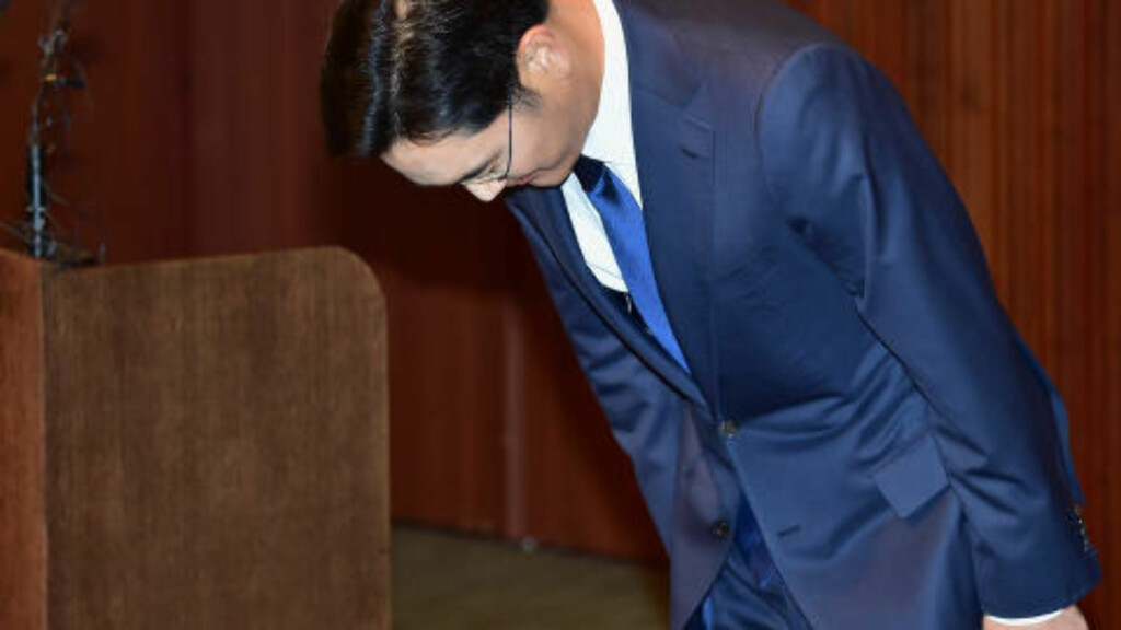 ARVING: Ifølge AP har Jay Y. Lee mye å bevise for å ta over det som er et av verdens største konserner. Det som nå har skjedd på Samsungs sykehus, er trolig ikke noe som hjelper ham på veien.  Foto: Lee Young-ho/NTB scanpix