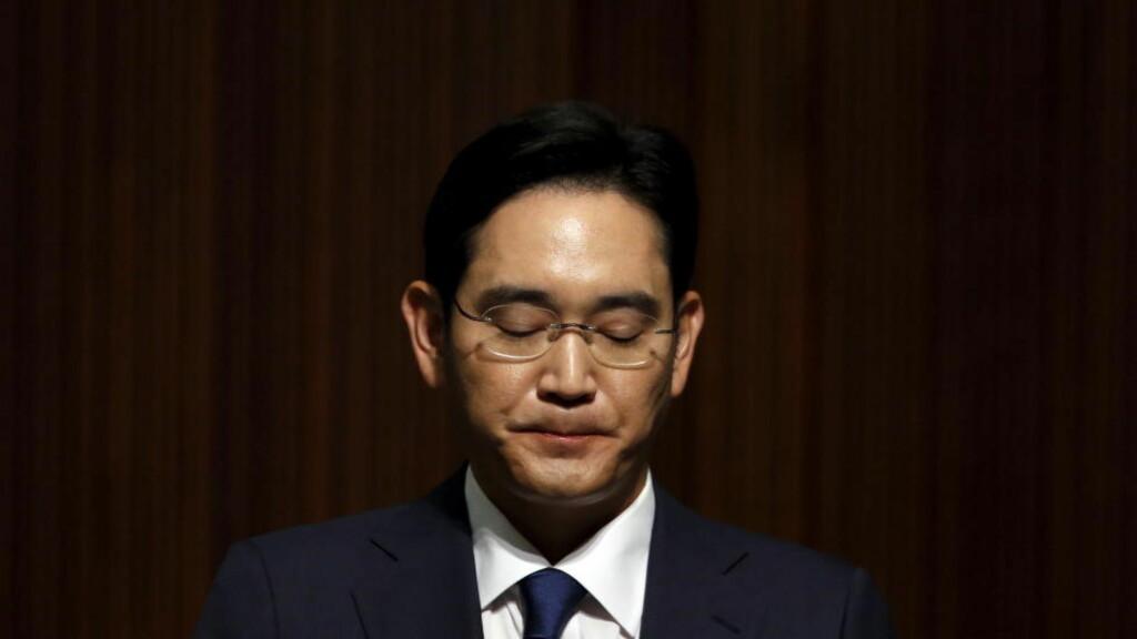 - EN YDMYKELSE: Samsung-arving Jay Y. Lee ba det sørkoreanske folk om unnskyldning for mers-epidemien i landet. Foto:  REUTERS/Kim Hong-Ji/NTB scanpix