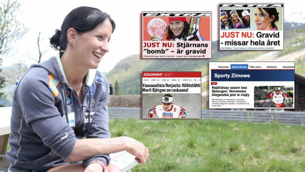 <strong>STORE NYHETER:</strong> Marit Bjørgens graviditet gis mye plass i idrettsinteresserte medier Europa rundt. Foto: Bjørn Langsem/Dagbladet
