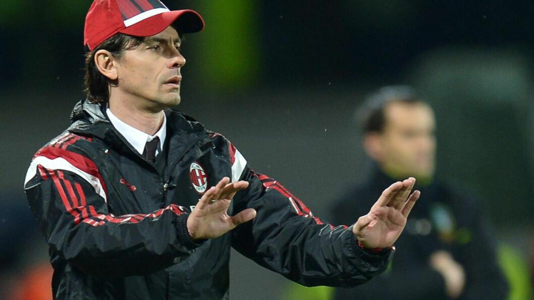<strong>PRESS:</strong> Milan-trener Filippo Inzaghi fikk en ny baksmell i kveld. AFP PHOTO / ALBERTO PIZZOLI