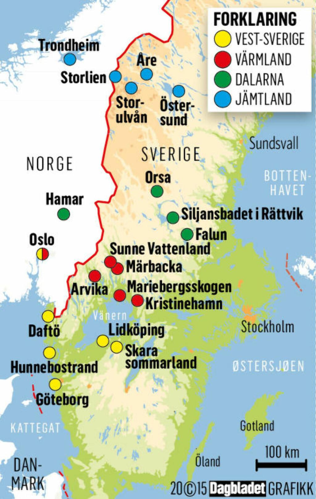 campingplasser sverige kart Se alt du kan gjøre sammen med familien i Sverige   Dagbladet campingplasser sverige kart