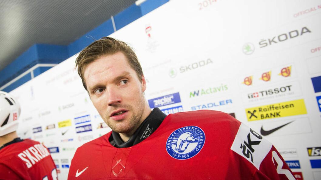 <strong>TIL SVERIGE:</strong> Etter fire år i KHL er Lars Haugen klar for svenske Färjestad.  Foto: Fredrik Varfjell / NTB scanpix