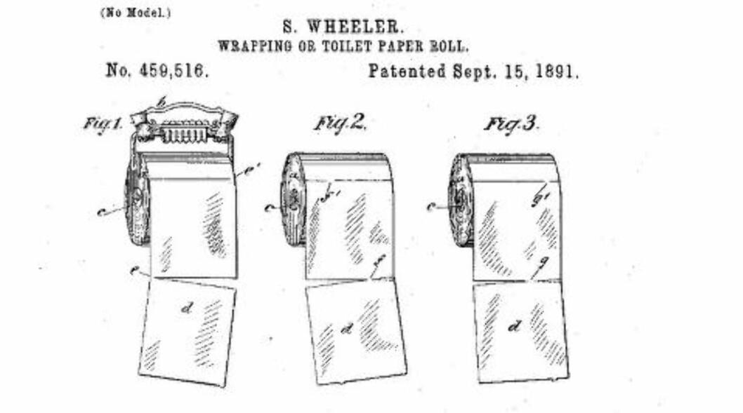<strong>FØRSTE TØRK:</strong> Patentet fra 1891 kunne satt en stopper for debatten.