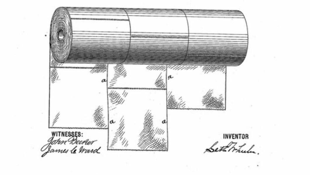 KOM PÅ BEDRE TANKER? I patentet som ble levert i 1894 hadde oppfinneren snudd dorullene.