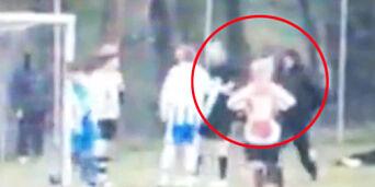 image: Fotballpappa dømt for overfall etter dette dommerangrepet