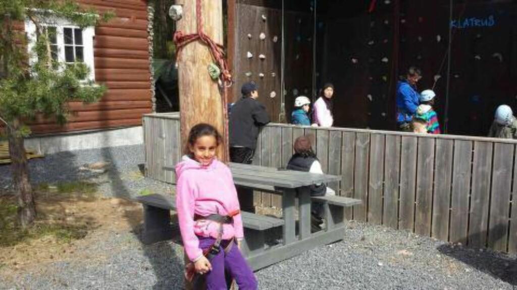 KLATRER:  Shaimaa på klatring. Foto: Privat