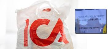 ICA-ansatt ble utsatt for vold av kunder. Nå er butikken anmeldt på grunn av denne lappen