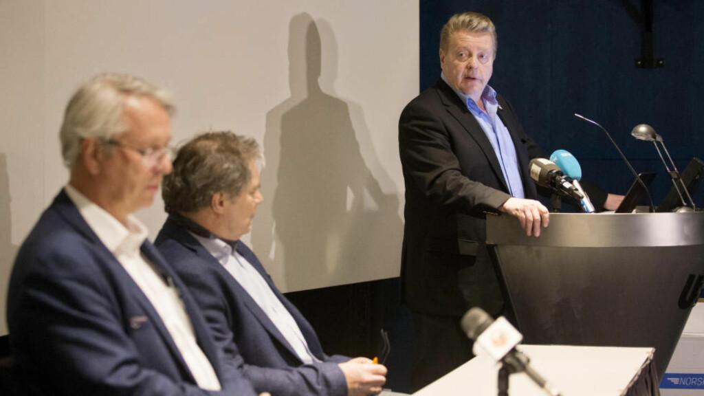 FÅR KRITIKK: Idrettspresident Børre Rognlien og idretten får unngjelde i evalueringen av OL-prosessen fra i fjor. Foto: Håkon Mosvold Larsen / NTB scanpix
