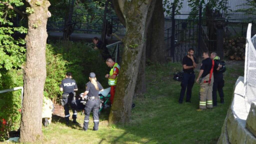 DRUKNET:  En mann har druktet i Akerselva. Foto: Fredrik Hove/Hove Media