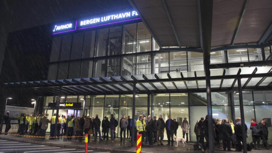 <strong>STRYKKARAKTER:</strong> Flesland i Bergen kommer ikke godt ut av en ny undersøkelse om brukertilfredsheten ved flyplasser i Norge. Foto: Marit Hommedal / NTB scanpix