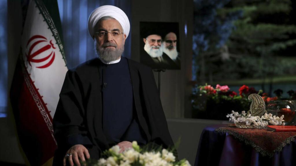 - ENIGE: Irans president, Hassan Rouhani, skriver på Twitter at Iran og de seks stormaktene har kommet til enighet om videre atomforhandlinger. Foto: Presidency Office/AP/Scanpix