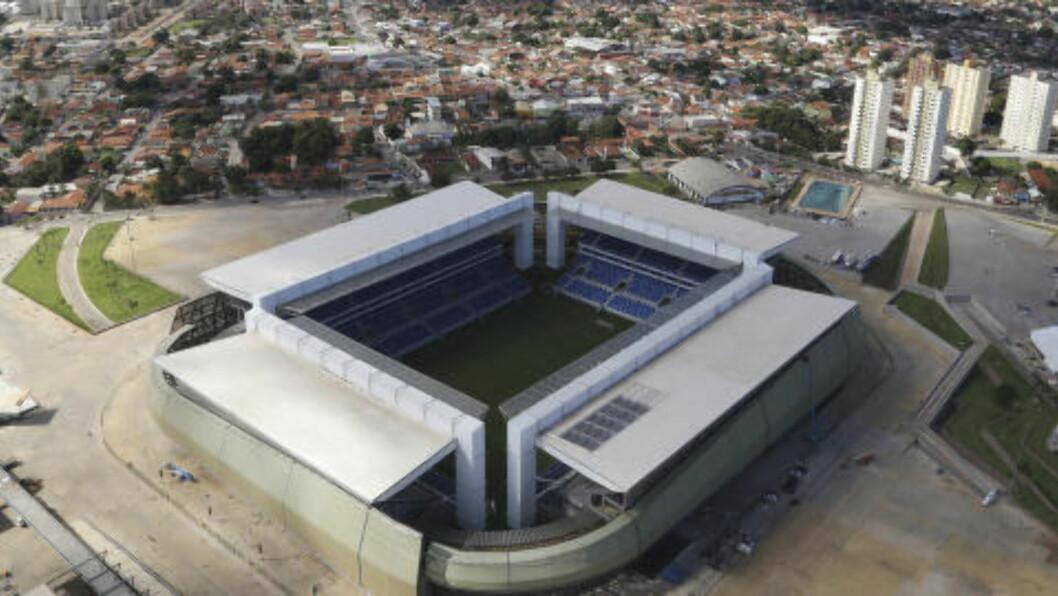 <strong>ARENA PANTANAL:</strong>Arena Pantanal ligger i byen Cuiaba. Foto: REUTERS/Joel Marcos/