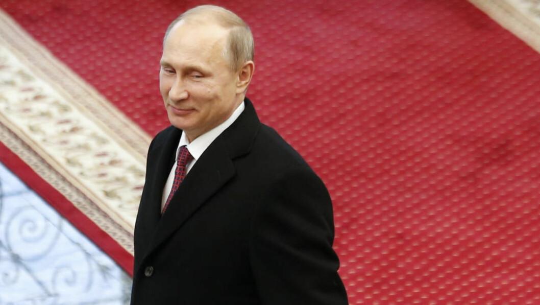 <strong>ARRANGERER FEST:</strong> Vladimir Putin har invitert 68 av verdens ledere til å feire 70-årsjubileet for frigjøringsdagen den 9. mai i år. Foto: Vasily Fedosenko/Reuters/Scanpx