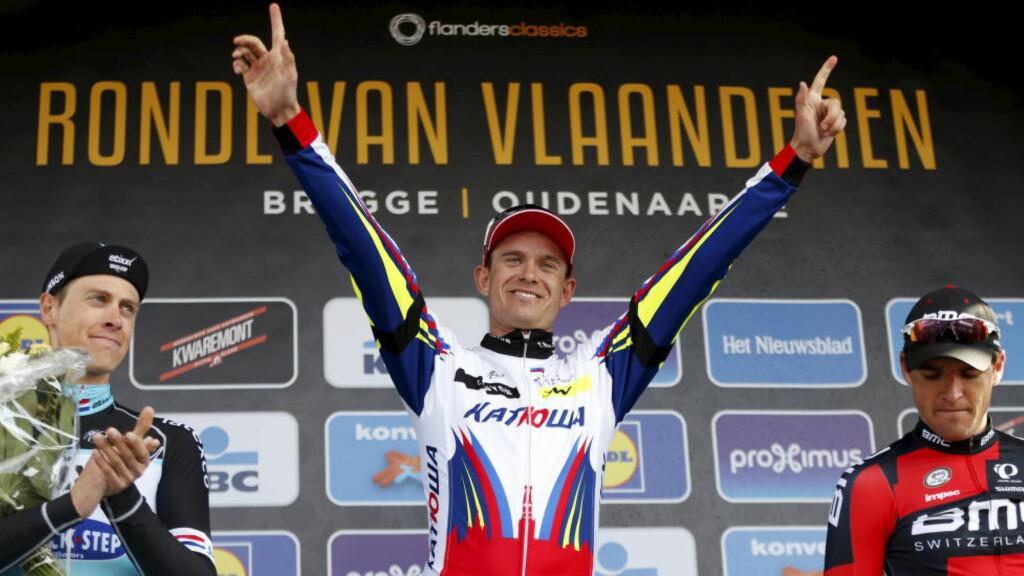 DEN STØRSTE:  Alexander Kristoff  er blitt en av verdens beste syklister. Med det blir også norsk sykkelsport noe helt annet. FOTO: REUTERS/Francois Lenoir.