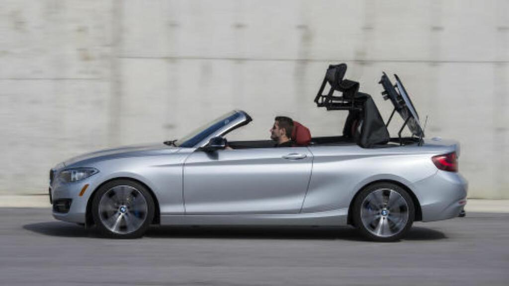 UPS AND DOWNS: Taket kan åpnes og lukkes i mens du kjører i opptil 50 km/t. Foto: BMW