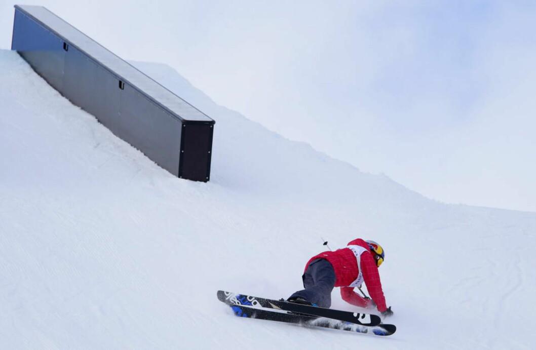 <strong>NYTT GULL:</strong> Tiril Sjåstad Christiansen tok ikke overraskende gullet i slopestyle under NM i fristil i Hafjell lørdag.  Her er hun i forbindelse med en slopestyle-trening i fjor. Foto: Håkon Mosvold Larsen / NTB scanpix