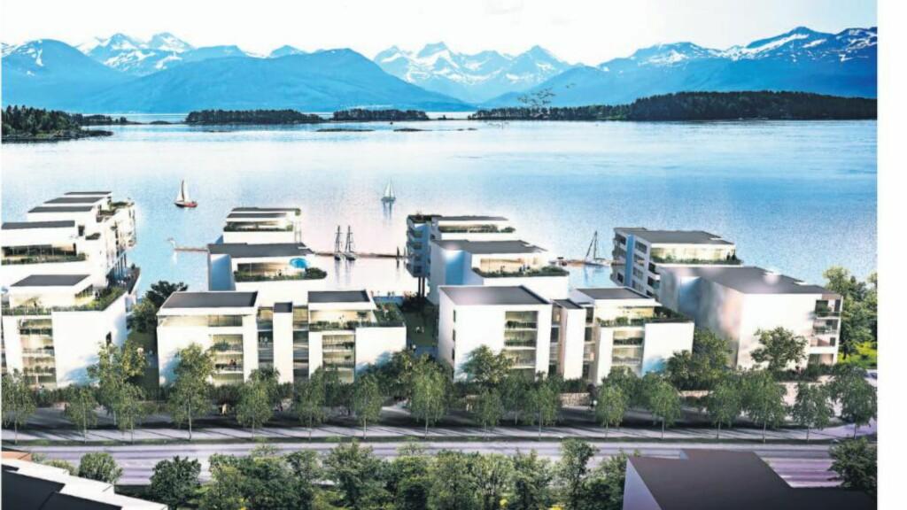 Grand Fiære:  Jan Petter Storetvedt har store visjoner for prosjektet i fjæra i Molde. Faksimile: Finansavisen