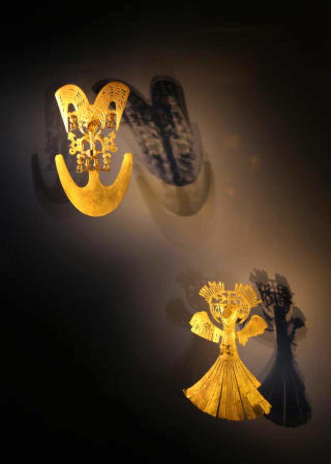 <strong>GULLET:</strong> På gullmuseet Museo del Oro i Bogota kan du betrakte flere titusen gjenstander som her en fellesnevner; de er laget i gull. Foto. EIVIND PEDERSEN