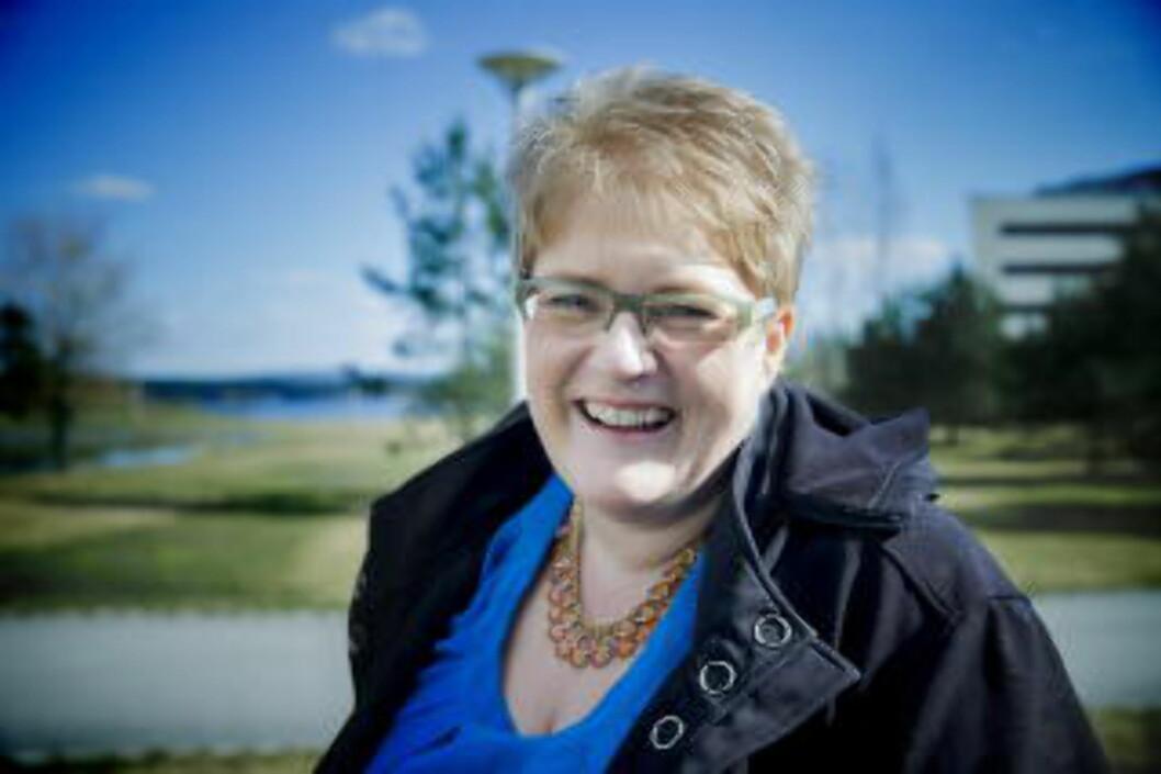 <strong>AKTIV PÅ TWITTER:</strong> Venstre-leder Trine Skei Grande har 24 500 følgere og har tvitret over 7600 ganger siden hun startet opp i februar 2009. Foto: Bjørn Langsem / Dagbladet
