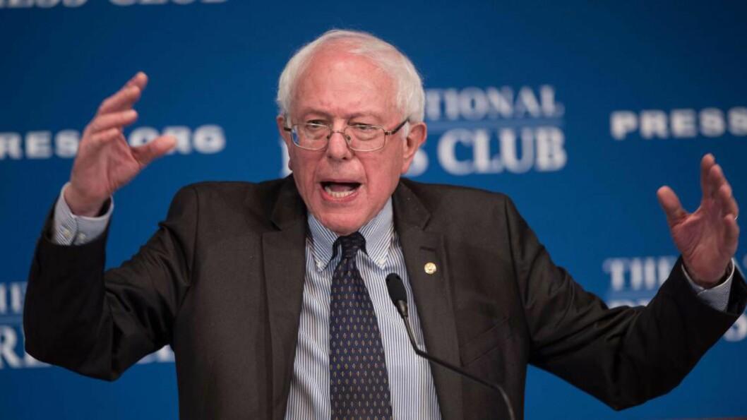 <strong>VIL BLI PRESIDENT:</strong> Den uavhengige senatoren Bernie Sanders kunngjør torsdag at han stiller opp som demokratisk presidentkandidat i konkurranse med Hillary Clinton. Foto: AFP PHOTO/NICHOLAS KAMM/FILES