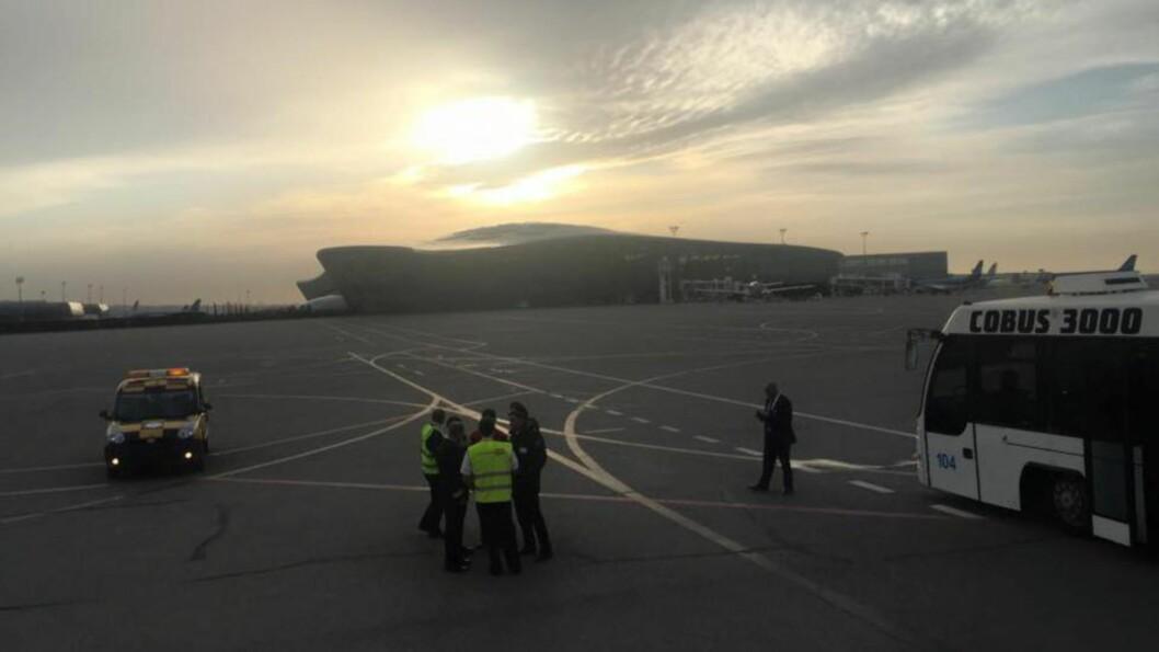 HAR FORLATT BAKU: Norsar-teamet har vært midlertidig strandet på flyplassen i Baku. Nå er det norske teamet endelig på plass i Nepal. Foto: Norsar
