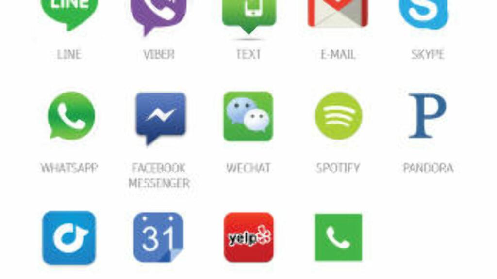 STØTTER DET MESTE: RayGo støtter de fleste appene for både Android og Apple.  Foto: RAYGO
