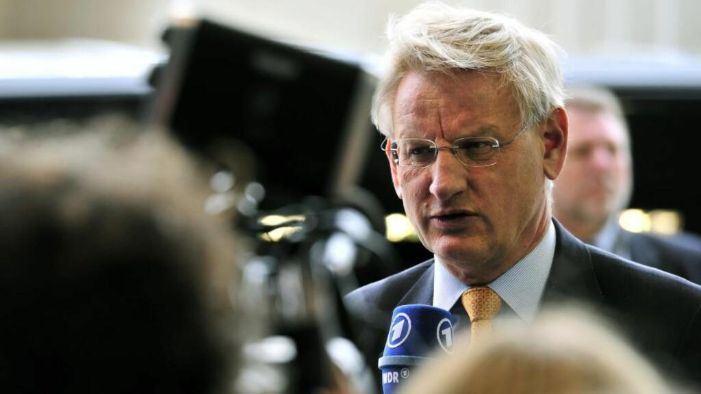SLÅR ALARM:  Svenskenes tidligere utenriksminister Carl Bildt frykter en ny storkrig. Foto: GEORGES GOBET/ AFP/ NTB Scanpix