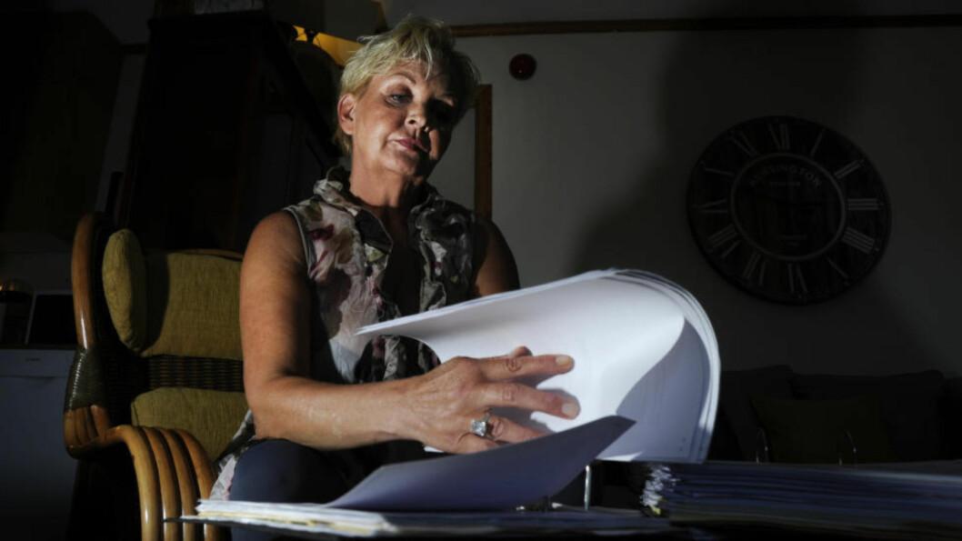 <strong>BLE RUSAVHENGIG:</strong> Grethe Iversen (51) mener legene gjorde henne til narkoman. Hun fikk utskrevet enorme mengder morfinliknende preparater og andre, tunge medikamenter i flere år. Nå krever hun erstatning. Foto: Fridgeir Walderhaug