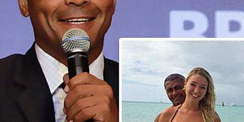 image: Kjæresten Dixie (19) kaller Brasil-legenden Romario (48) for «baby»