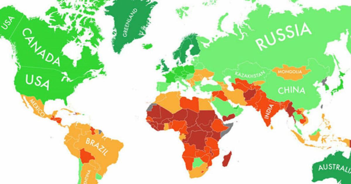 kart over fattige og rike land Slik vil verden takle klimaendringer   Dagbladet kart over fattige og rike land