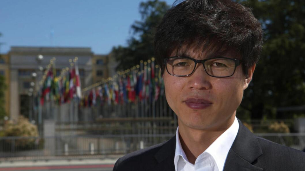 <strong>INNRØMMER FEIL:</strong> Shin Dong-Hyuk, her i Geneve i 2013, innrømmer at noen av tids- og stedsangivelsene for hendelene som er beskrevet i boka «Flukten fra Camp 14» ikke er korrekte. Han fastholder at de grunnleggende elementene i hans fortelling fra innsiden av nordkoreas fangeleirer er sanne. Foto:  REUTERS/Denis Balibouse/Files