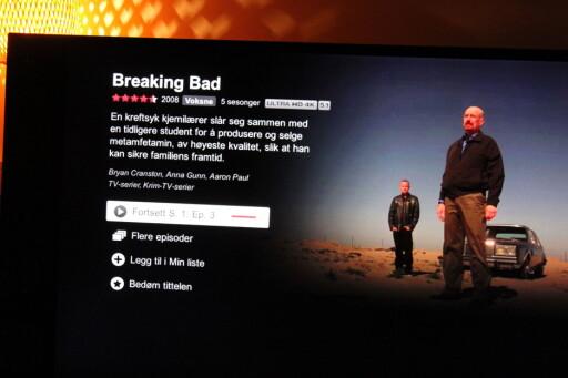 I 4K: Netflix har flere serier i 4K-oppløsning, som krever mer nedlastingshastighet enn normalt. Eksempler er Breaking Bad, House of Cards og Marco Polo. Foto: ØYVIND PAULSEN