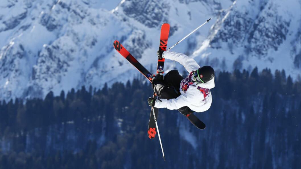 <strong>UTE:</strong> Øystein Bråten endte på 13.-plass i slopestyle på ski under X-Games i Aspen og ble slått ut av konkurransen. Foto: Heiko Junge / NTB scanpix