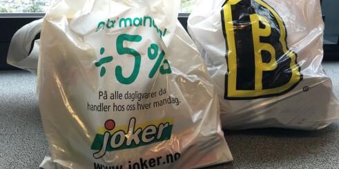Hvilken butikk er billigst av Joker og Bunnpris?