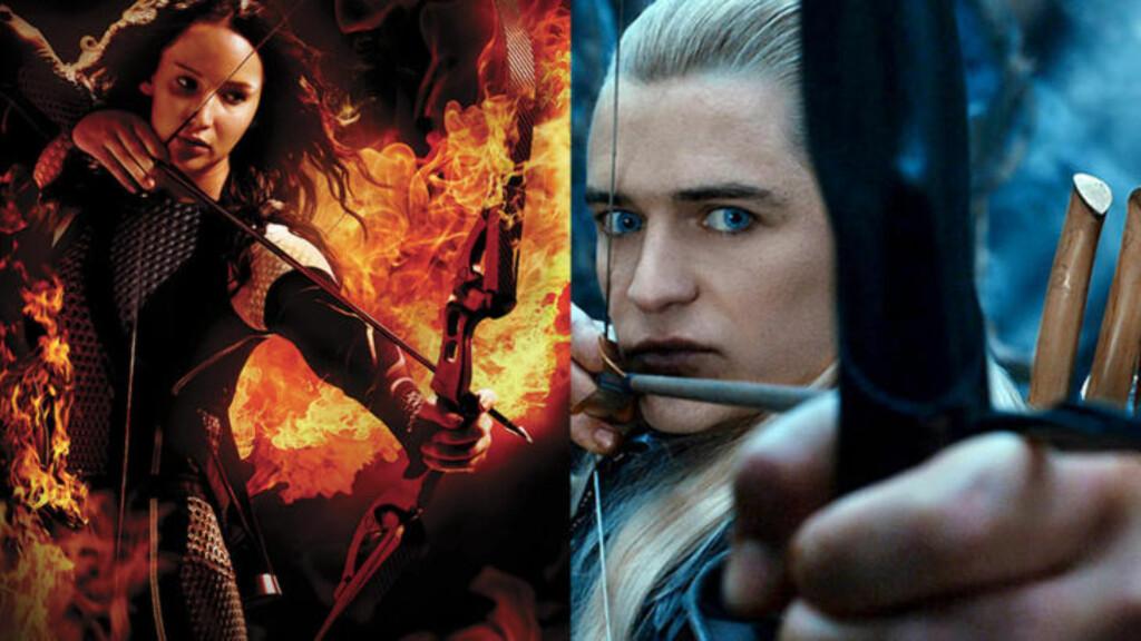 - FEIL METODE: Lars Andersen mener at både Jennifer Lawrence i «Hunger Games» og Orlando Bloom i «Ringenes Herre» skyter med pil-og-bue feil. Foto: Skjermdump / YouTube