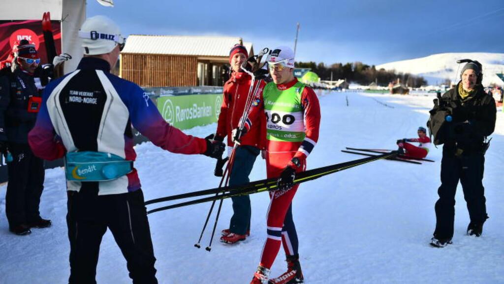FAVORITTDISTANSE? Anders Gløersen gjorde akkurat som han gjorde på samme distanse i verdenscupen i Davos før jul: Vant.