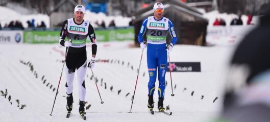 Tomas Northug falt i siste sving, mens Petter ikke var i nærheten
