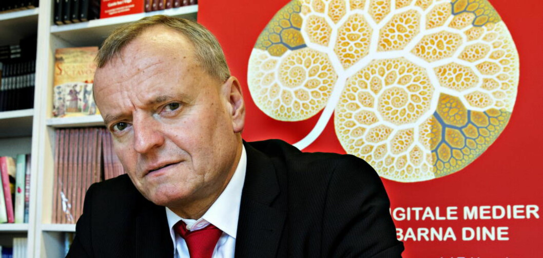 <strong>SVAR:</strong>Manfred Spitzer står fast på konklusjonen om at digitale medier fører til demens. Foto: Nina Hansen / Dagbladet