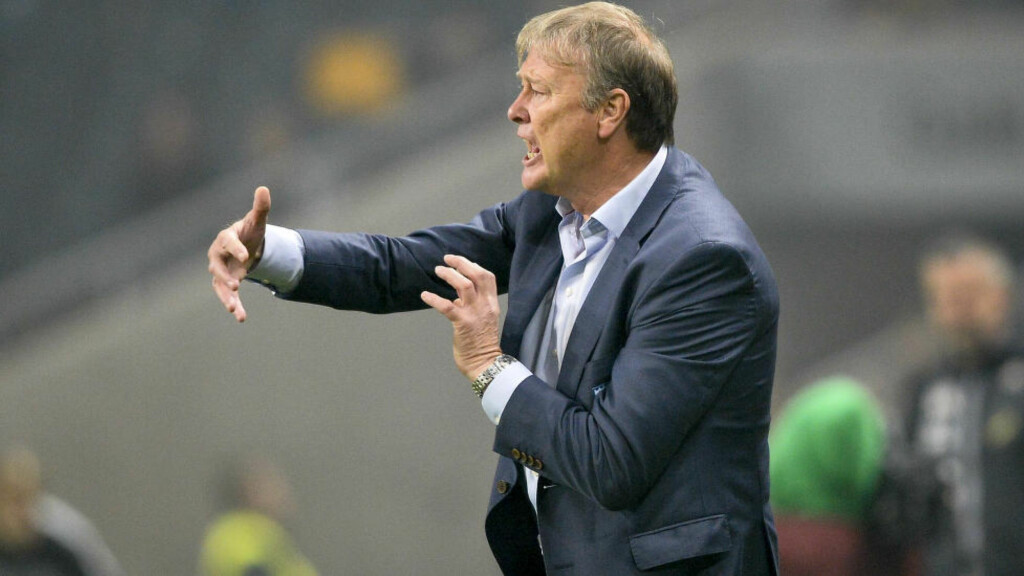 AVSLUTTET SESONGEN MED TAP:  Åge Hareide og Malmö avsluttet sesongen med tap for Åtvidaberg. Foto: Anders Wiklund / TT / NTB scanpix
