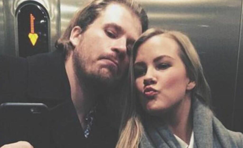 STØTTE: Nina Caroline Arnesen hyller kjæresten Kjetil Jansrud etter lørdagens nedtur i VM-utforen. Foto med tillatelse fra Nina Caroline Arnesen.