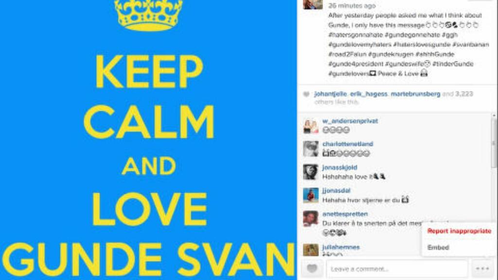 SVARER SVAN: Petter Northug publiserte dette bildet med en tilhørende melding til Gunde Svan på Instagram i dag. Foto: Petter Northug / Instagram