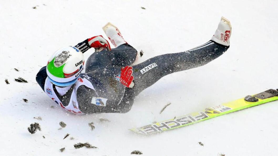 <strong> FALT STYGT:</strong>  Det gikk galt for Anders Bardal i Polen i januar. Foto: NTB Scanpix