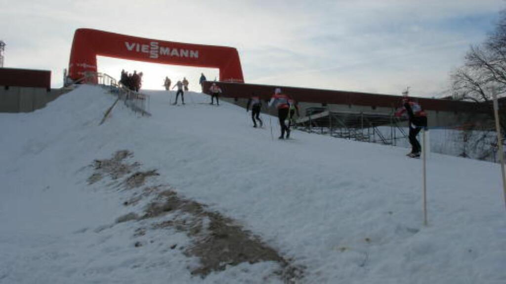 AVSLUTNINGSBAKKEN: Denne sluggeren av en bakke kommer rett før mål. Foto: Pål Marius Tingve / Dagbladet