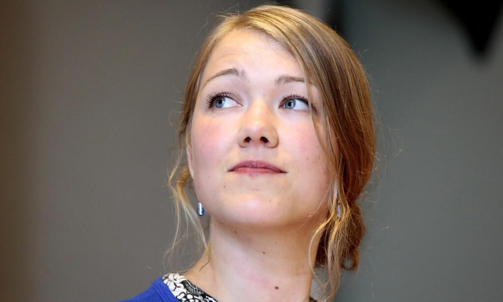 REAGERER: Nasjonal talskvinne Une Aina Bastholm fra Miljøpartiet De Grønne. Foto: Håkon Mosvold Larsen / NTB scanpix