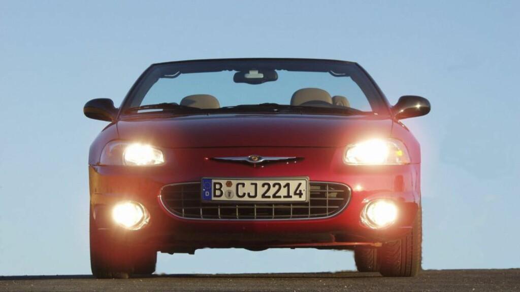 OPPSIKTSVEKKENDE: I 2013 ble en av fire Chrysler vraket. Dersom det samme fortsetter inn i 2014, så er det snart ikke mange Chrysler igjen i Norge. FOTO: Fred Magne Skillebæk